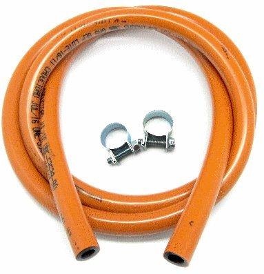 Abrazaderas y tubo de gas homologado