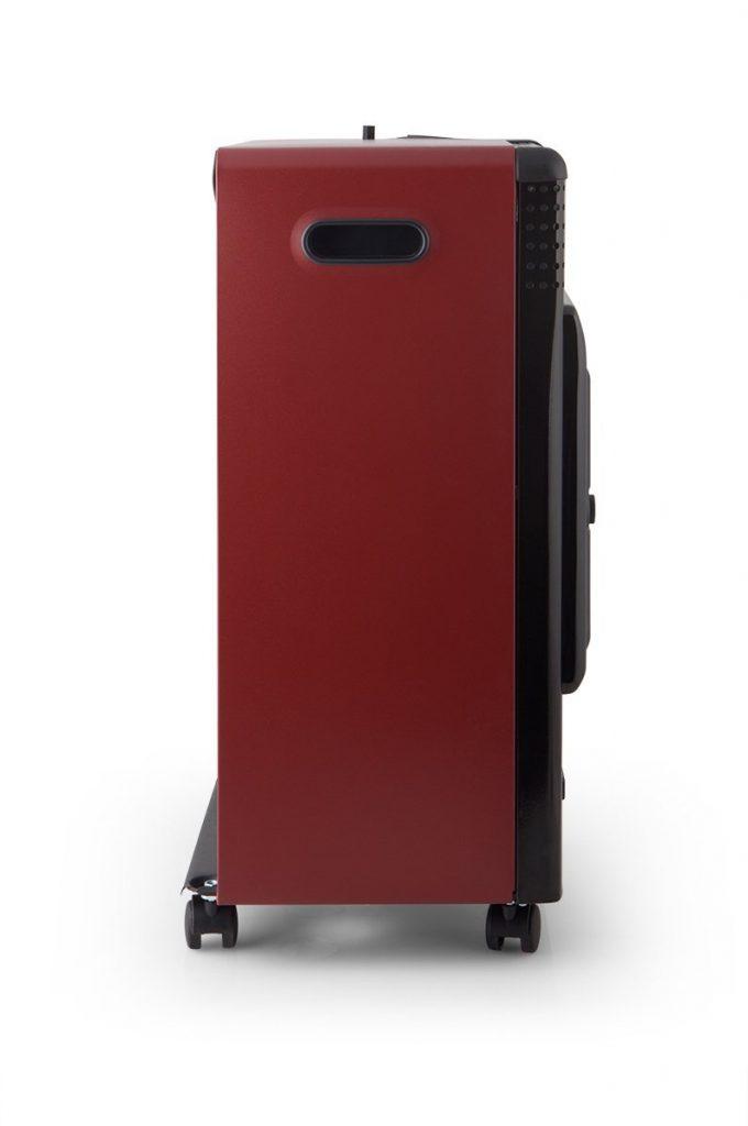 Lateral de la estufa de gas azul Orbegozo HBF 95