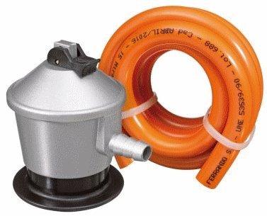 Regulador y tubo de gas homologado